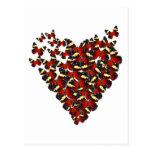 Butterfly heart postcards