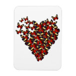 Butterfly heart rectangle magnet