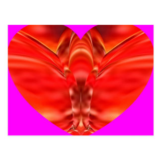 Butterfly heart - Red Glamour Post Cards