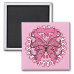 Butterfly Heart Ribbon - Breast Cancer Fridge Magnet