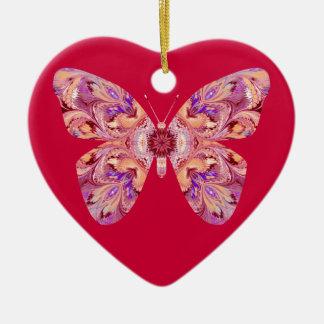 Butterfly Heart Shaped Ornament