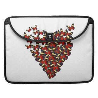 Butterfly heart sleeve for MacBook pro