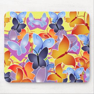 Butterfly Hearts Mouse Pad