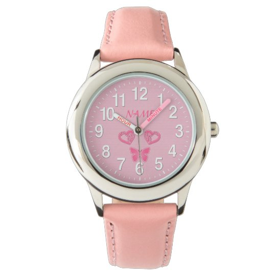 butterfly hearts personalized watches for girls zazzle com