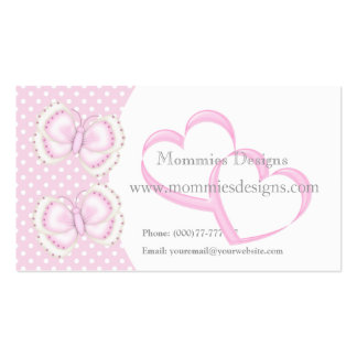 Butterfly Hearts Polkadots Business Profile Card