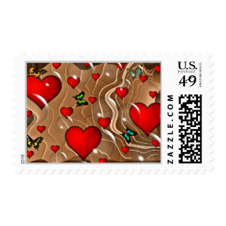 Butterfly & Hearts Stamps
