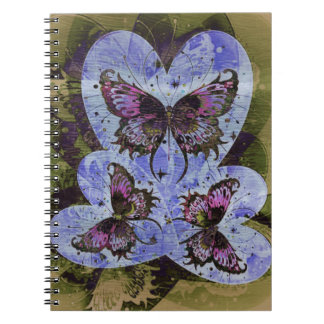 Butterfly Hearts | Today I Love You Spiral Notebooks