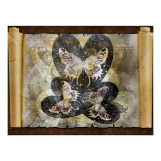 Butterfly Hearts   Today I Love You Poster