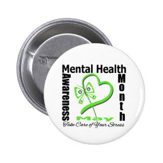 Butterfly Heartt - Mental Health Awareness Month Pinback Button