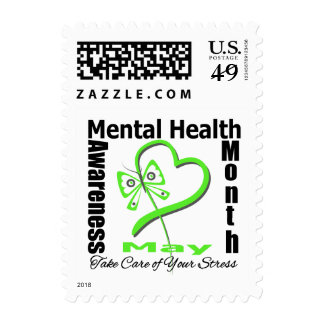 Butterfly Heartt - Mental Health Awareness Month Postage Stamps