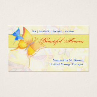 Butterfly Heaven Massage Spa Business Cards