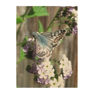 Butterfly Heliotrope Wood Wall Decor