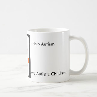 BUTTERFLY, Help Autism, Love Autistic Children Coffee Mug
