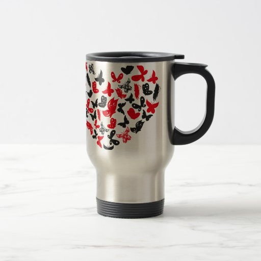 butterfly herz2.ai 15 oz stainless steel travel mug