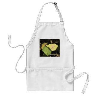 Butterfly Hiding Behind a Leaf Adult Apron
