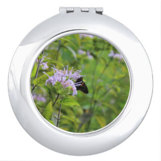 Butterfly Hiding in A Flower Makeup Mirror