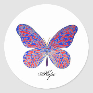 Butterfly Hope Classic Round Sticker