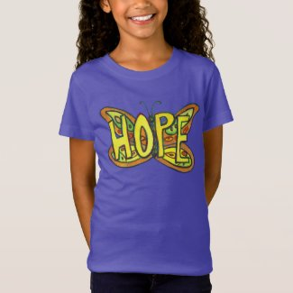 Butterfly Hope Word Art Inspirational Custom Shirt