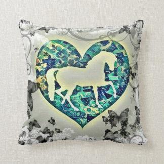Butterfly Horse Throw Pillow