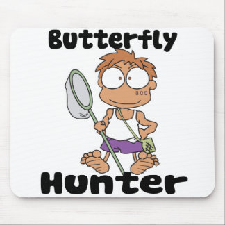 butterfly hunter mouse pad