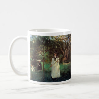 Butterfly hunting by Berthe Morisot Coffee Mug