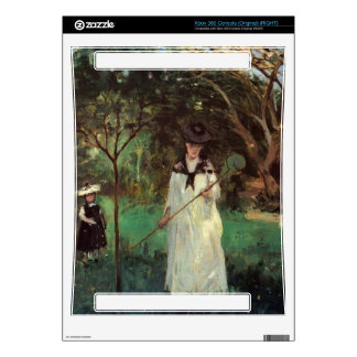 Butterfly hunting by Berthe Morisot Xbox 360 Console Skins