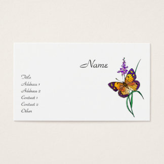 Butterfly Illustration Business Card
