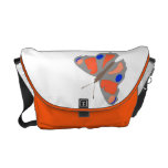 Butterfly illustration courier bags