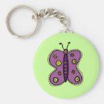 Butterfly Illustration Key Chain