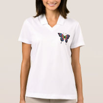 Butterfly Illustration Polo Shirt