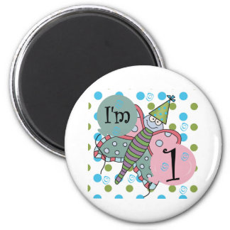 Butterfly I'm 1 Birthday Magnet