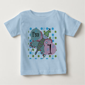 Butterfly I'm 1 Birthday Tshirts and Gifts