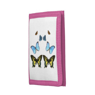 Butterfly image for Pink-TriFold-Nylon-Wallet Tri-fold Wallets