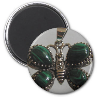 butterfly image green magnets