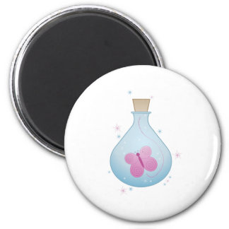 Butterfly in a Bottle 2 Inch Round Magnet