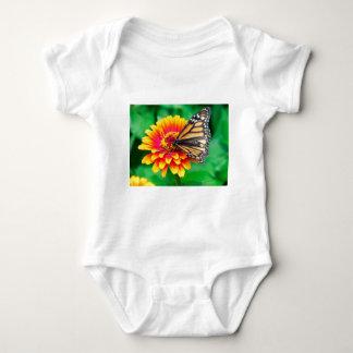 butterfly in a flower baby bodysuit