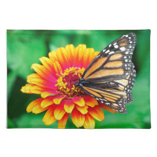butterfly in a flower place mat