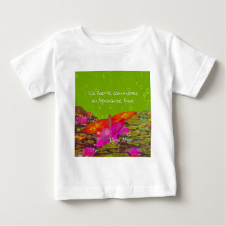 Butterfly in a pond. baby T-Shirt
