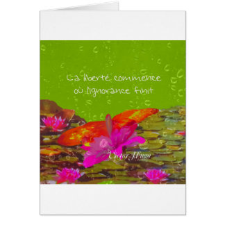 Butterfly in a pond. card