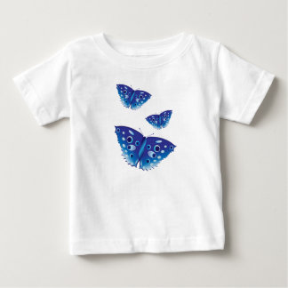 Butterfly in beautiful blue colors infant t-shirt