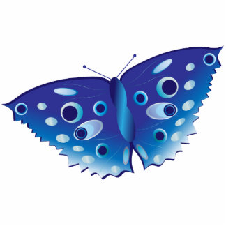 Butterfly in beautiful blue colors sculpture, gift photo cut outs