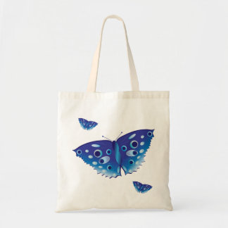 Butterfly in beautiful shades of blue tote bag