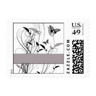 Butterfly in Black and Grey Postage Stamp