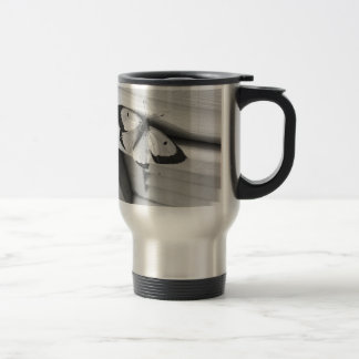 Butterfly In Black And White 15 Oz Stainless Steel Travel Mug