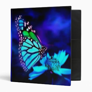 Butterfly in Blue Light 3 Ring Binder