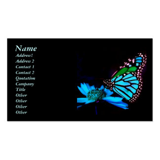 Butterfly in Blue Light Business Card Templates