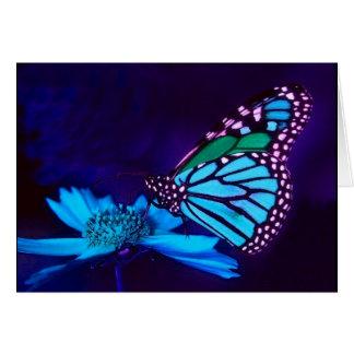 Butterfly in Blue Light  Love Card