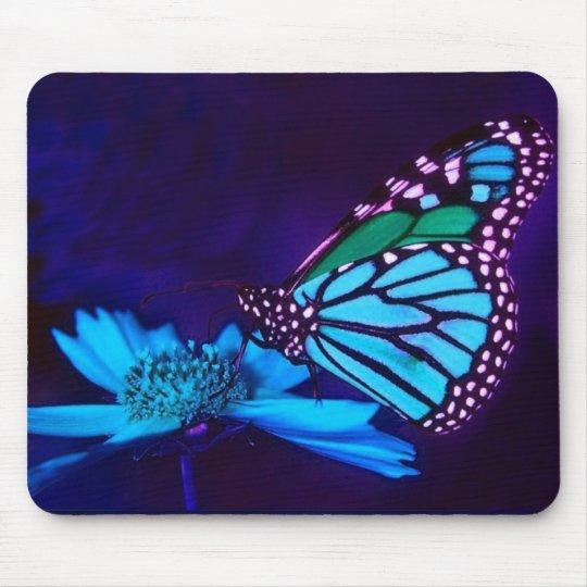 Butterfly in Blue Light Mousepad
