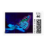 Butterfly in Blue Light Stamp