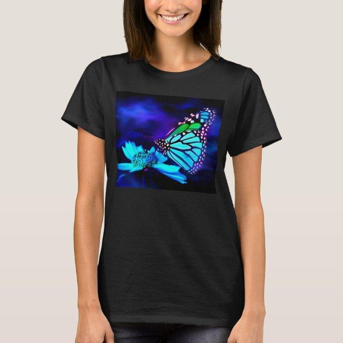 Butterfly in Blue Light T-Shirt